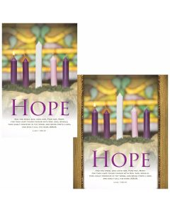 Advent Bulletin - Hope  (multiple size options)
