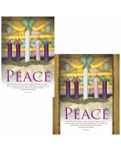 Advent Bulletin - Peace  (multiple size options)