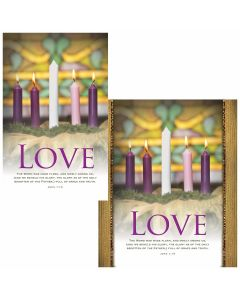 Advent Bulletin - Love  (multiple size options)