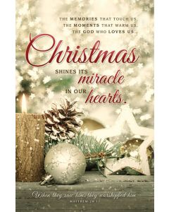Christmas Bulletin - Christmas shine its miracle in our hearts