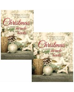 Christmas Bulletin - Christmas shine its miracle in our hearts  (multiple size options)