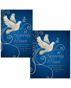 Christmas Bulletin - Heavenly Peace  (multiple size options)