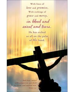 Good Friday Bulletin - With lines of love and promise