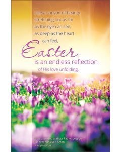 Easter Bulletin - Easter is an endless reflection