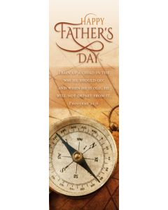 (pkg 25) Father's Day Bookmark - Happy Father's Day