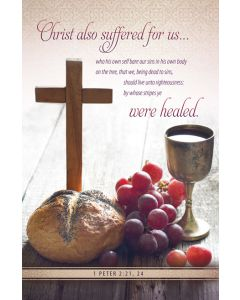 Communion - Christ suffered for us - Standard Bulletin