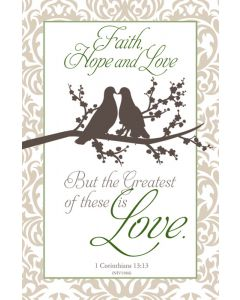 Wedding Bulletin - But the Greatest of these is Love.