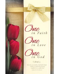 Wedding Bulletin - One in Faith, One in Love, One in God