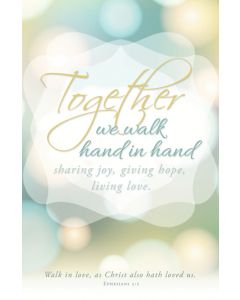Wedding Bulletin - Together we walk hand in hand