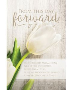 Wedding Bulletin - From This Day Forward, 1 Jn 4:12