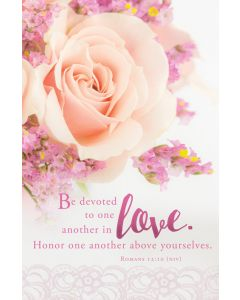 Wedding Bulletin - Be devoted to one another in love