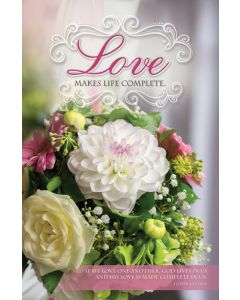 Wedding Bulletin - Love Makes Life Complete