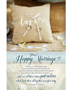 Wedding Bulletin - Love for a Happy Marriage