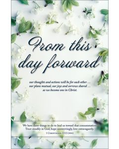 Wedding Program - From this day forward
