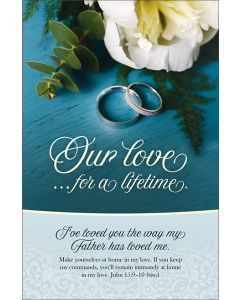 Wedding Program - Our love…for a lifetime