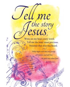 Music Bulletin - Tell me the story Jesus