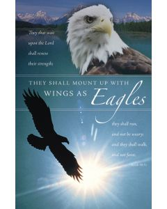 General Worship Bulletin - They shall mount up with Wings as Eagles