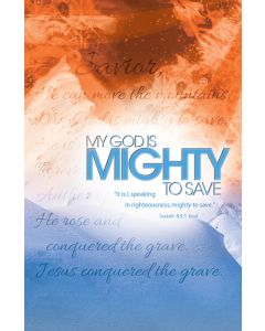 General Worship Bulletin - My God Is Mighty to Save