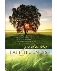 General Bulletin - Great is thy faithfulness