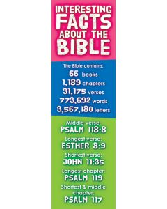 Bookmark - Interesting Facts about the Bible