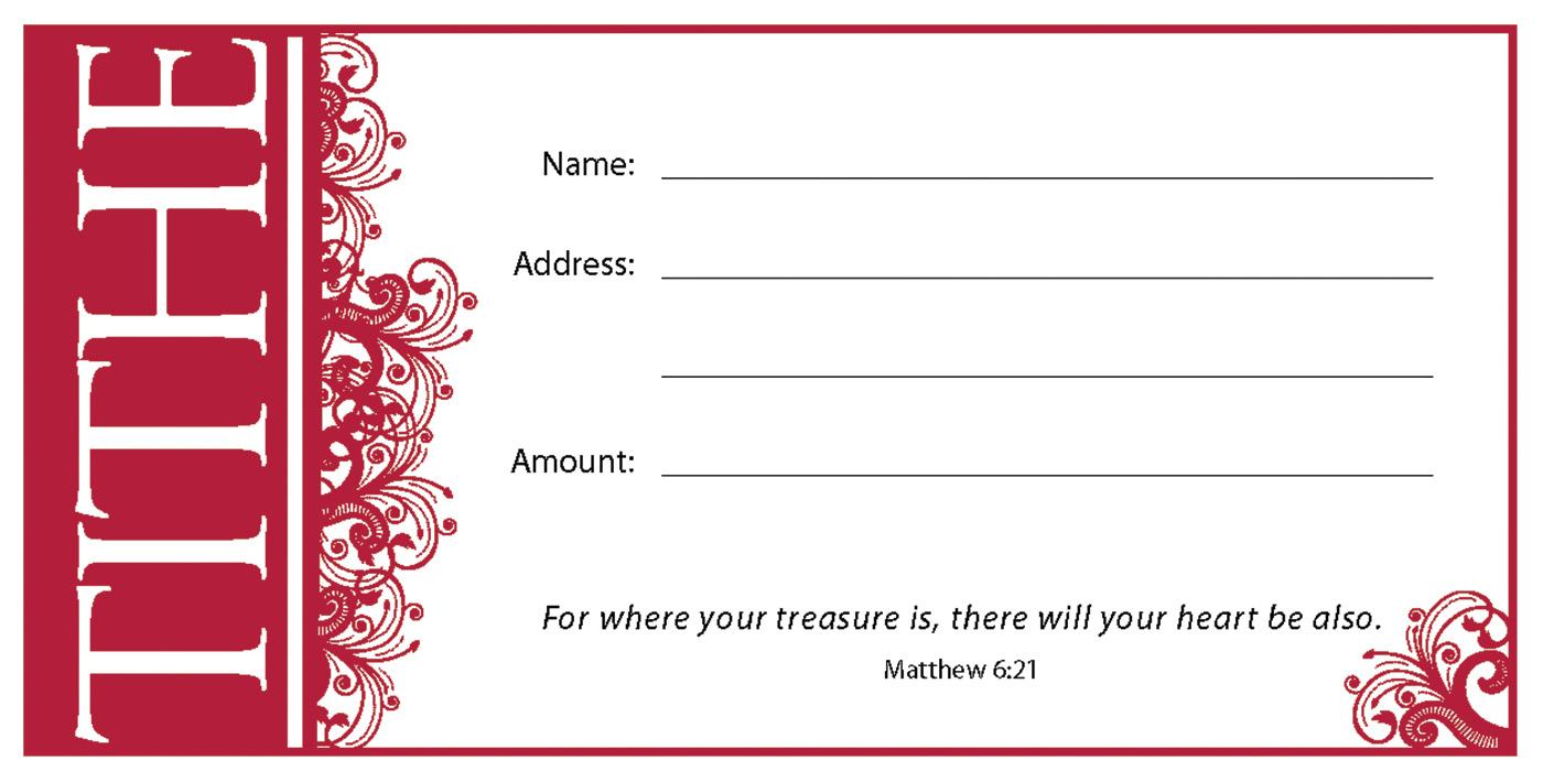 (pkg 100) Value Offering Envelope - Tithe