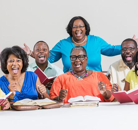 people enjoying Bible study