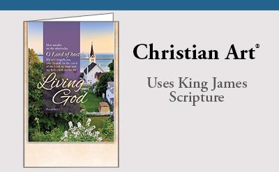 Christian Art uses KJV scripture