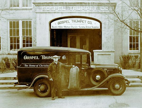 Gospel Trumpet mail history