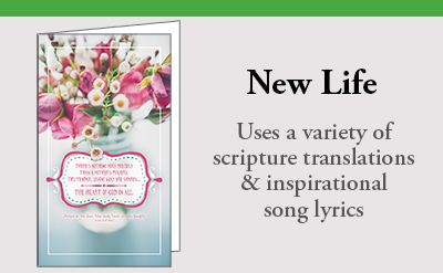 New Life Bulletins with a variety of scriptures
