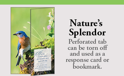 Nature's Splendor Bulletin Subscription features a perforated response Tab